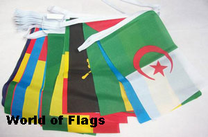 African Nations Bunting with 53 Flags