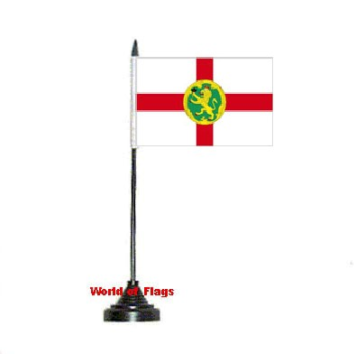 Alderney Table Flag