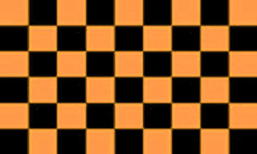 Black and Gold Checkered Flag