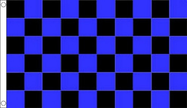 Royal Blue and Black Checkered Flag