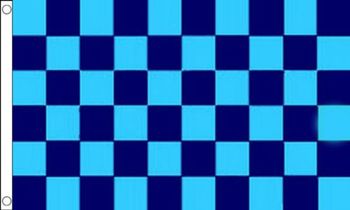 Navy Blue and Sky Blue Checkered Flag