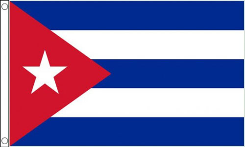2ft by 3ft Cuba Flag