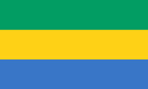 2ft by 3ft Gabon Flag