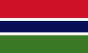 2ft by 3ft Gambia Flag