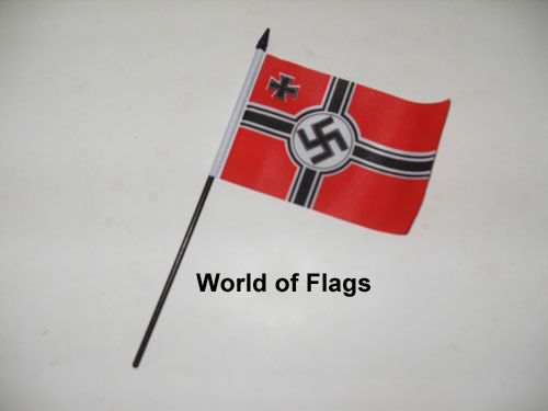 German WW2 Battle Ensign Hand Flag