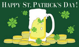 Happy St Patricks Day Flag Green Beer Flag Special Offer