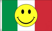 Italy Smiley Face Flag Only a Few Left
