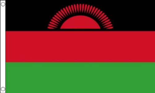 Malawi Flag Red Sun Flag