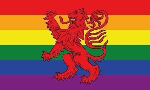 Rainbow Scotland Lion Flag