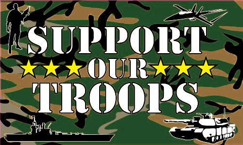 Support Our Troops Flag - Camouflage Flag