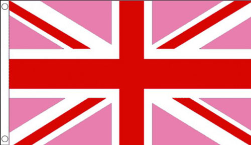 Pink Union Jack Flag Only A Few Left