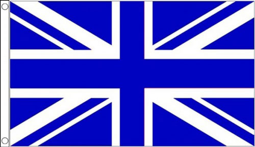 2ft by 3ft  Royal Blue and White Union Jack Flag