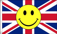 Union Jack Smiley Face Flag Only a Few Left