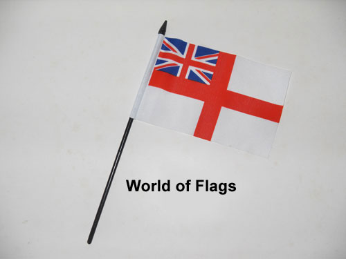 White Ensign Hand Flag