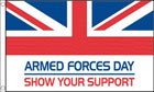 5ft by 8ft Armed Forces Day Flag