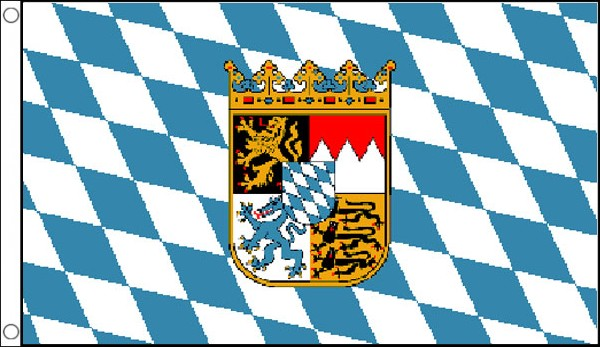 Bavaria Flag with Crest