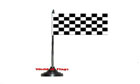 Black and White Checkered Table Flag