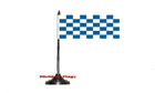 Royal Blue and White Checkered Table Flag