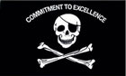 Commitment To Excellence Pirate Flag LAST ONE