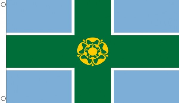 5ft by 8ft Derbyshire Flag