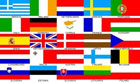 European Flag 25 Countries on 1 Flag