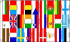 European Banner 27 Countries on 1 Flag