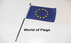 Euro Hand Flag Blue with Yellow Stars