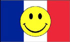 France Smiley Face Flag