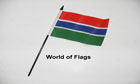 Gambia Hand Flag