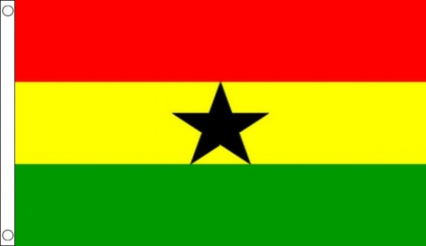 5ft by 8ft Ghana Flag