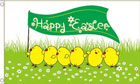 Happy Easter Flag Easter Chicks Flag