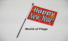 Happy New Year Hand Flag