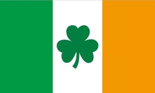 Ireland Shamrock Flag