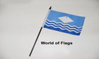 Isle of Wight Waves Hand Flag