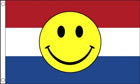 Holland Netherlands Smiley Face Flag