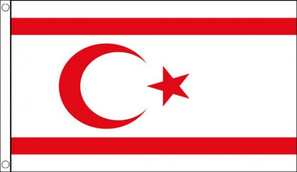 2ft by 3ft North Cyprus Flag