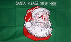 2ft by 3ft Santa Please Stop Here Flag Design B
