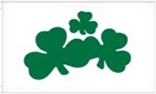 2ft by 3ft Shamrock Flag