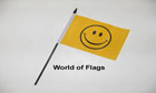 Smiley Face Hand Flag