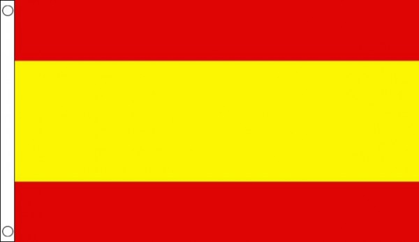 2ft by 3ft Spain Flag No Crest Only A Few Left