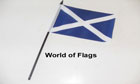 St Andrews Cross Hand Flag Dark Blue