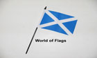 St Andrews Cross Hand Flag Light Blue