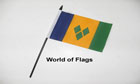 St Vincent and The Grenadines Hand Flag