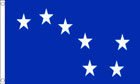 Blue Starry Plough Funeral Flag