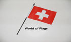 Switzerland Hand Flag