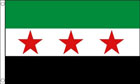 2ft by 3ft Syria Flag 3 Star Old Syrian Flag
