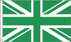 Green and White Union Jack Flag
