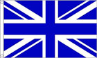 Royal Blue and White Union Jack Flag