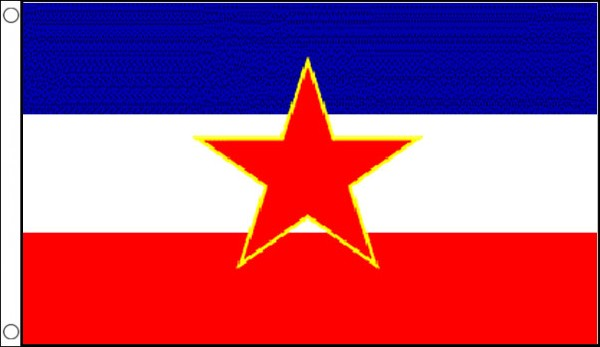 Yugoslavia Star Flag