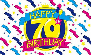 Happy 70th Birthday Flag Design A Special Offer
